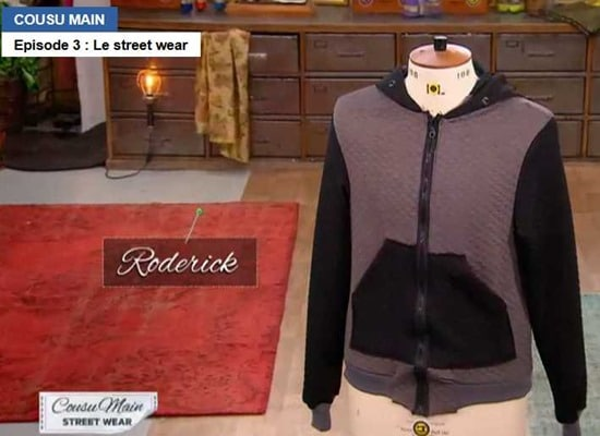 Cousu main 2 sweat capuche Roderick