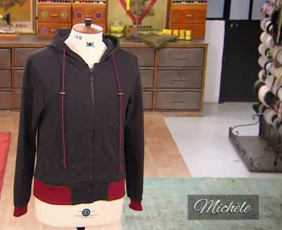 Cousu main 2 sweat capuche michele