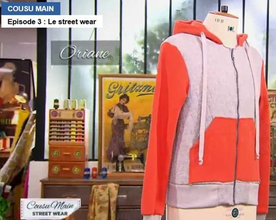 Cousu main 2 sweat capuche oriane