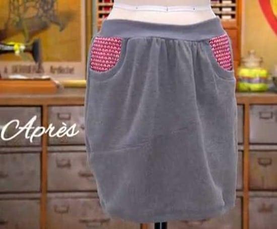 cousu main 2 customisation sweat jupe edith