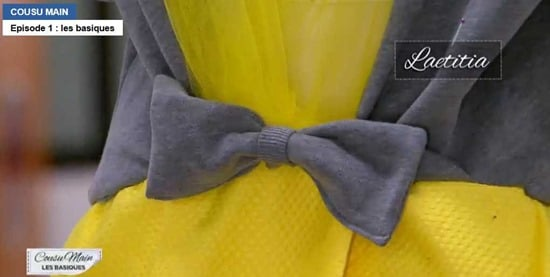 cousu main 2 customisation sweat noeud robe laetitia