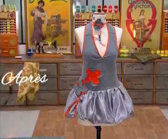 cousu main 2 customisation sweat robe boule Frédéric