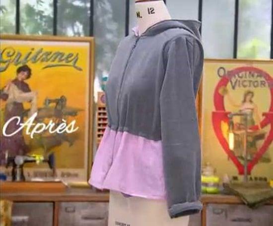 cousu main 2 customisation sweat veste capuche Astrid