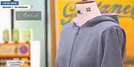 cousu main 2 customisation sweat veste detail capuche Astrid