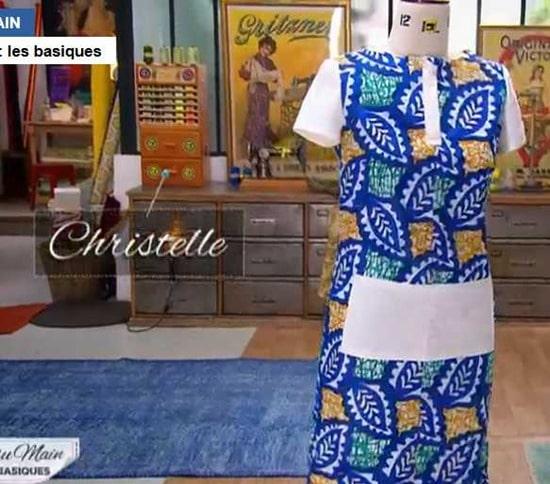 cousu main 2 robe droite Christelle