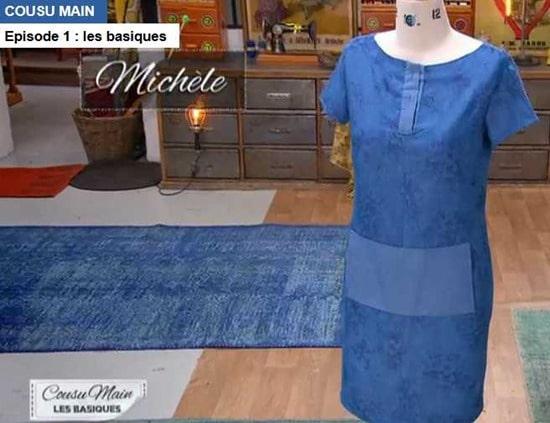 cousu main 2 robe droite Michele