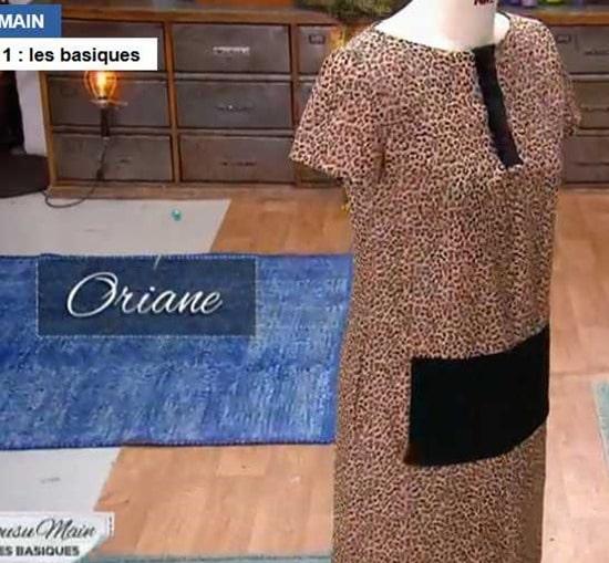cousu main 2 robe droite Oriane