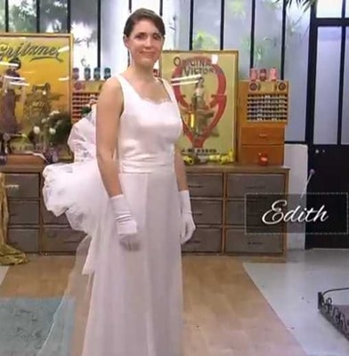 cousu main 2 robe de mariée Edith