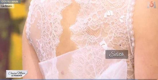 cousu main 2 robe de mariée dos Edith