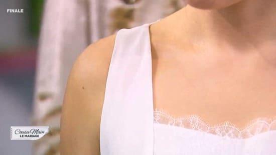 cousu main 2 robe de mariée emmanchure Edith
