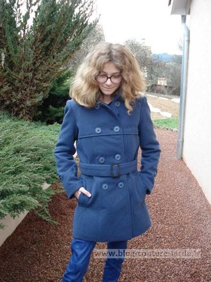 manteau vogue jeune fille details V8884