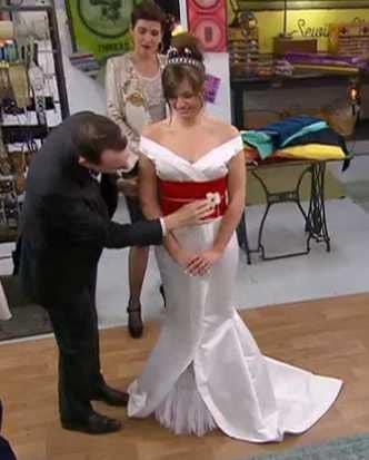 cousu main 2 robe de mariée devant Nadia