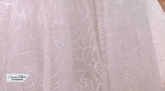 cousu main 2 tissu robe de mariée Astrid