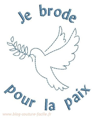 Broderie paix
