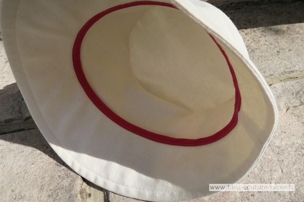 finition chapeau bob femme