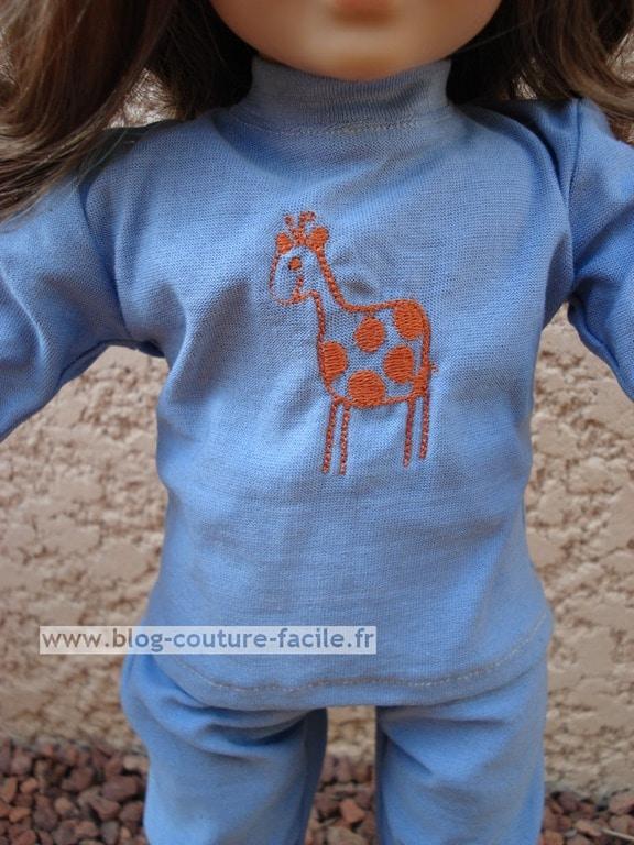 motif broderie girafe
