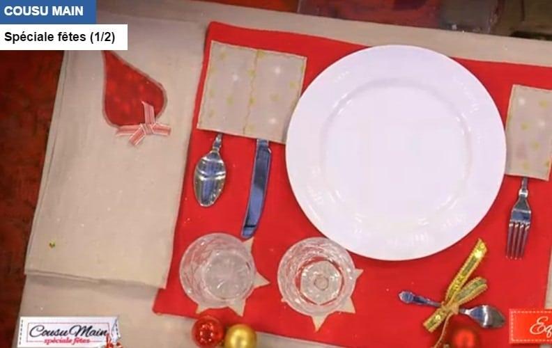 Cousu-main-M6-decoration-table-rouge-set