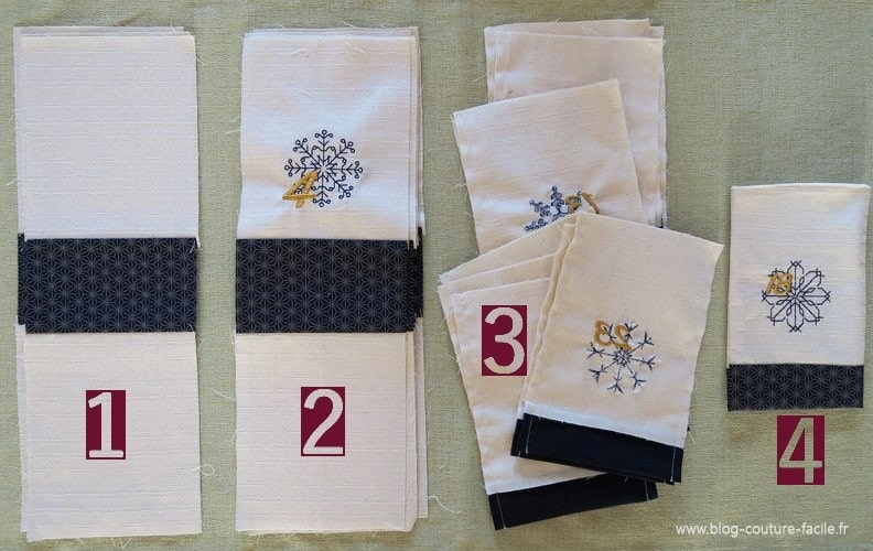 DIY pochette tissu