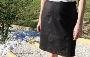 jupe en jean patchwork