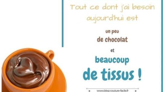 chocolat, tissus et couture