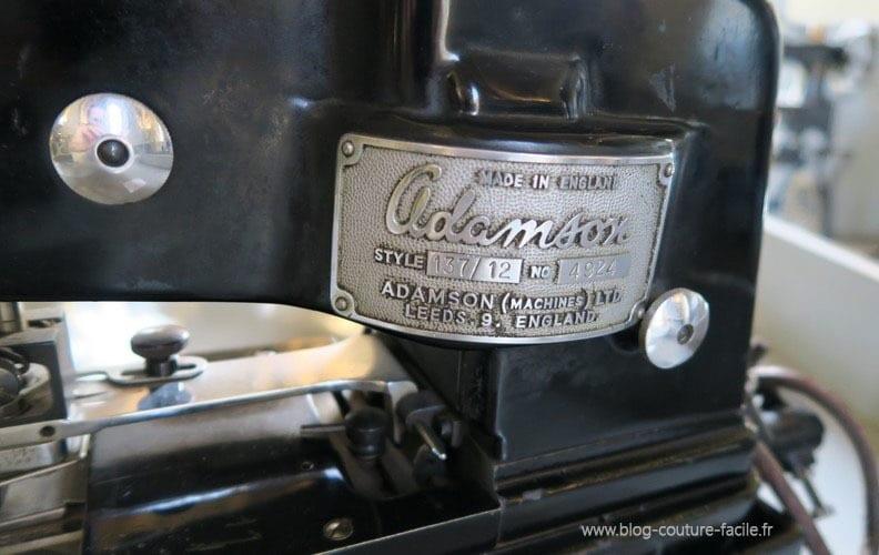 plaque machine a coudre ADAMSON