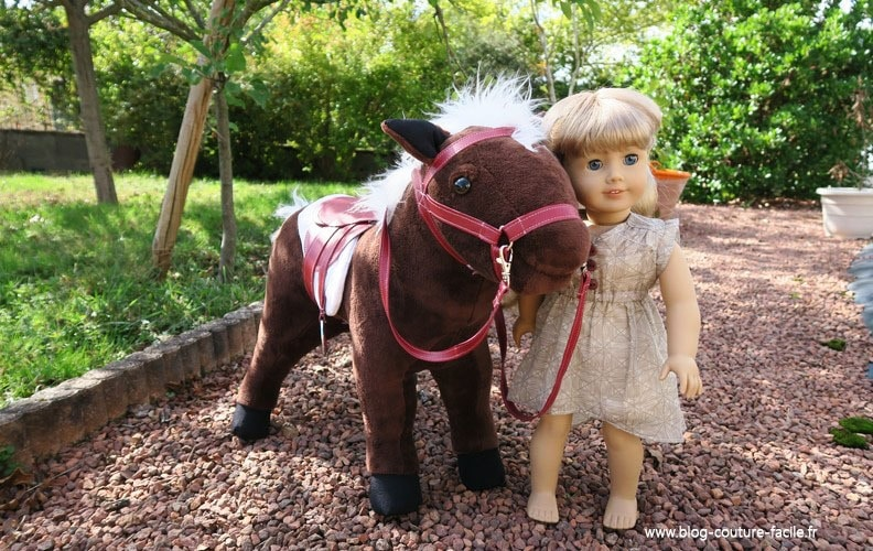 poupee american girl et son cheval