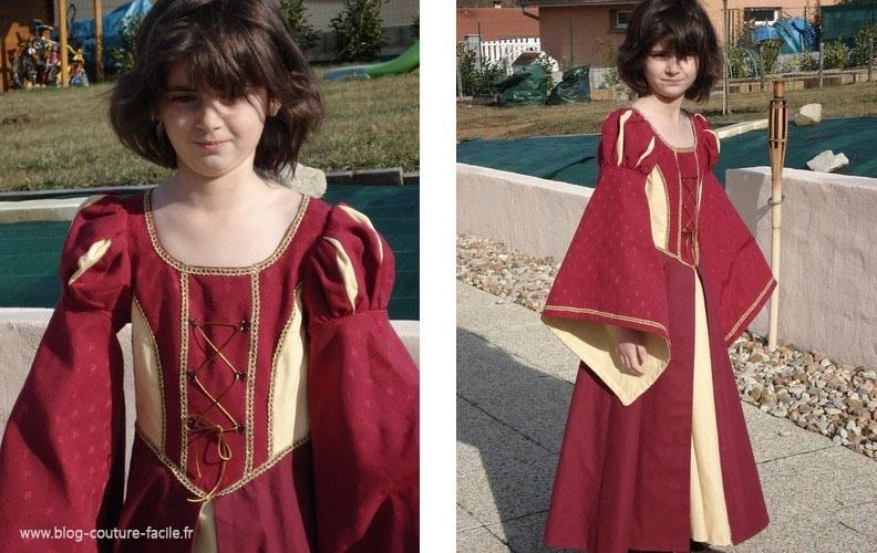 costume robe medievale fille