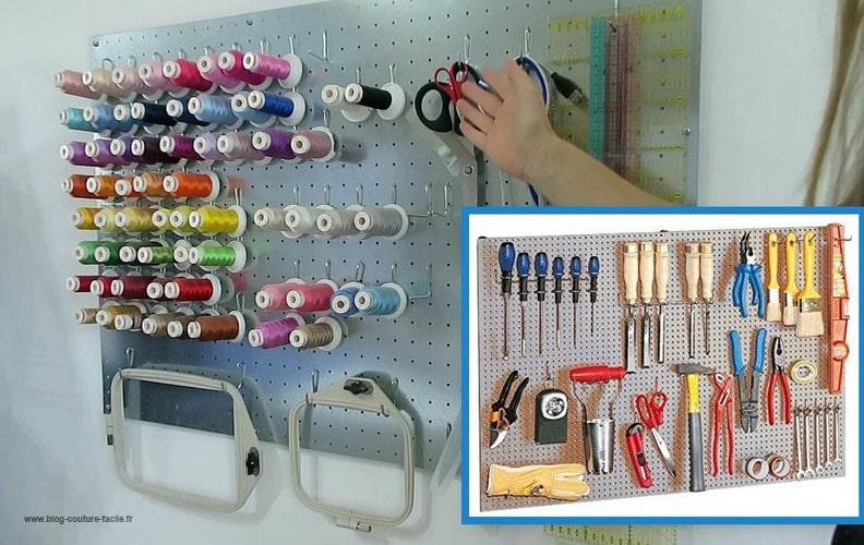 plaque metallique porte outils
