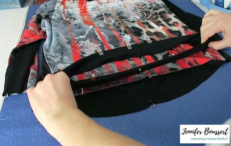 Tuto bande jersey repere couture