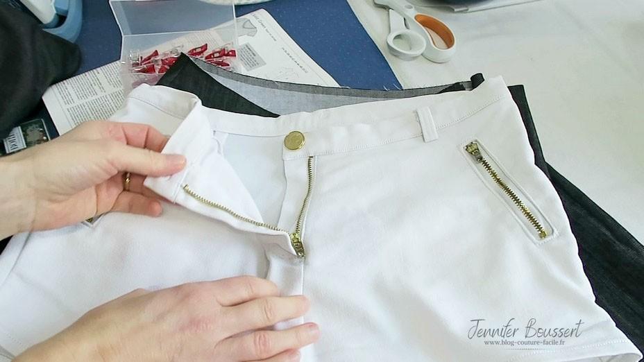 couture fermeture eclair pantalon