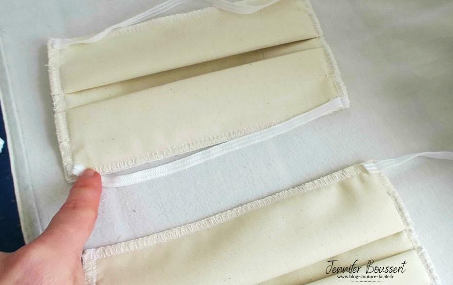 elastique masque tissu