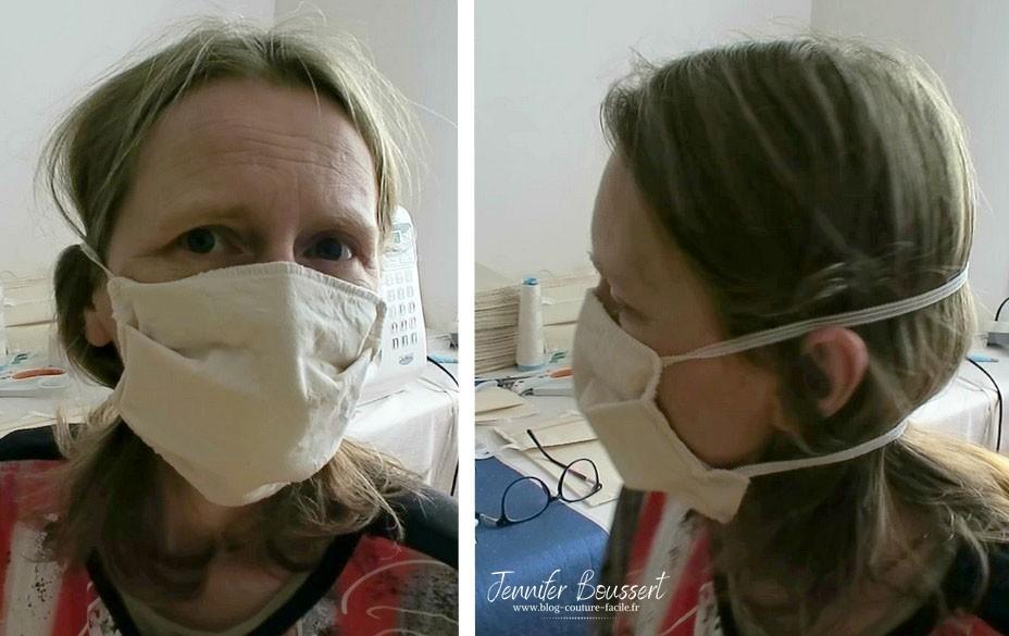 masque tissu elastique tete