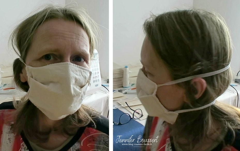 masque a elastique passage de l'elastique derriere la tete
