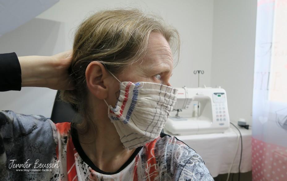 masque tissu elastique derriere oreilles