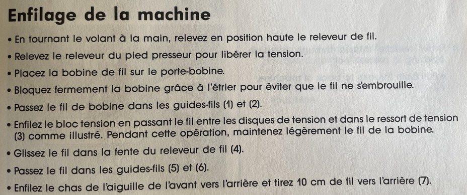 comment enfiler la machine a coudre singer
