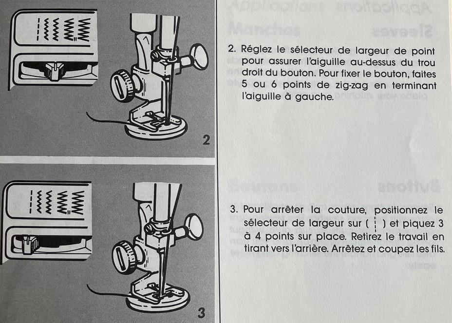 coudre un bouton avec la machine singer prima 20