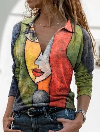 idee pull t-shirt avec très grand motif