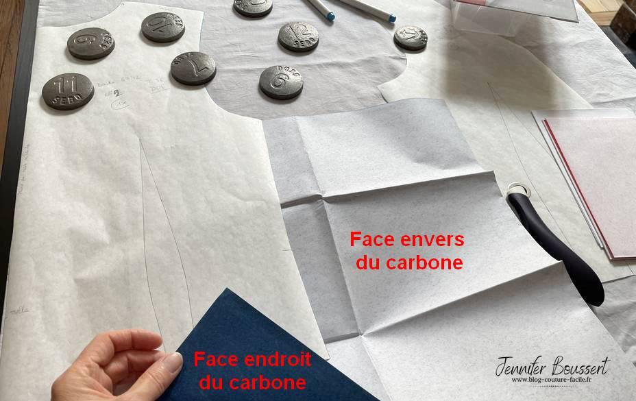 papier carbone pince