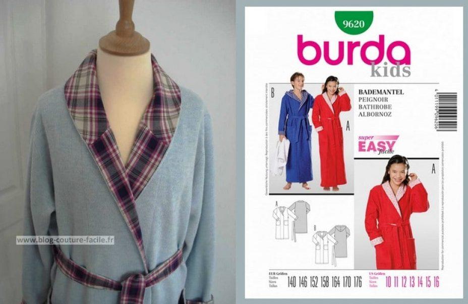 Robe De Chambre Peignoir Burda 9620
