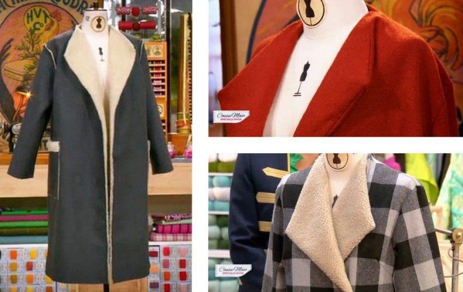 cousu main 3 manteau oversize femme