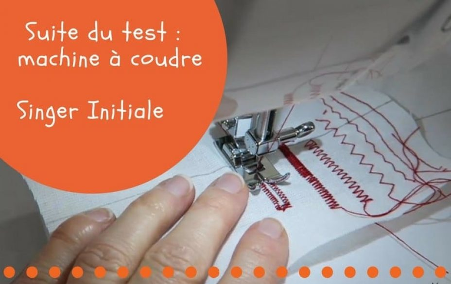 test machine a coudre singer initial